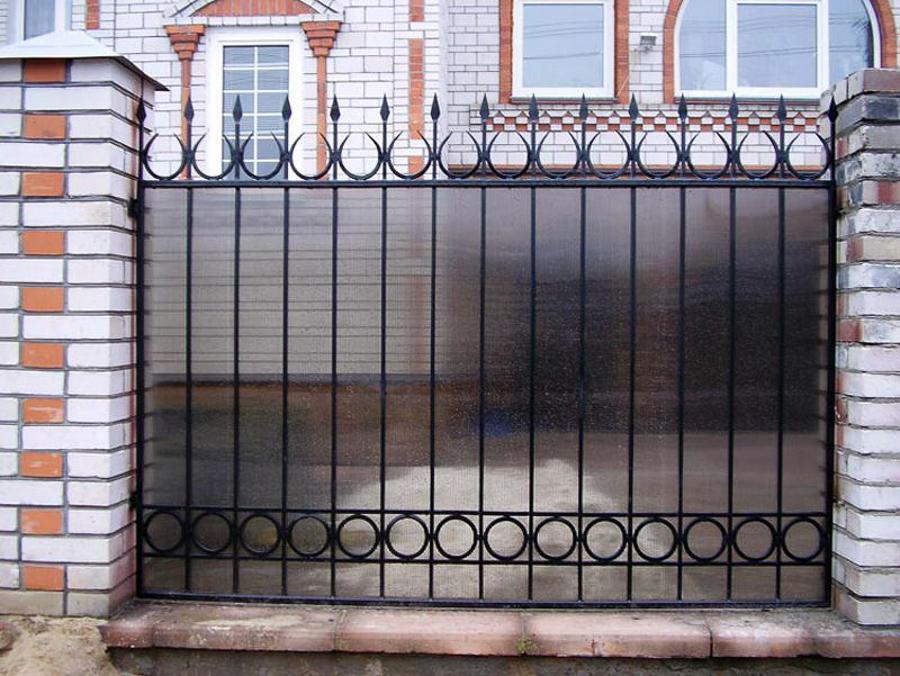 Забор решетка + поликарбонат