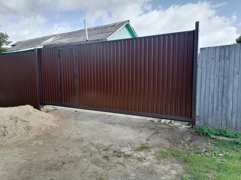 Откатные вороты коричневые