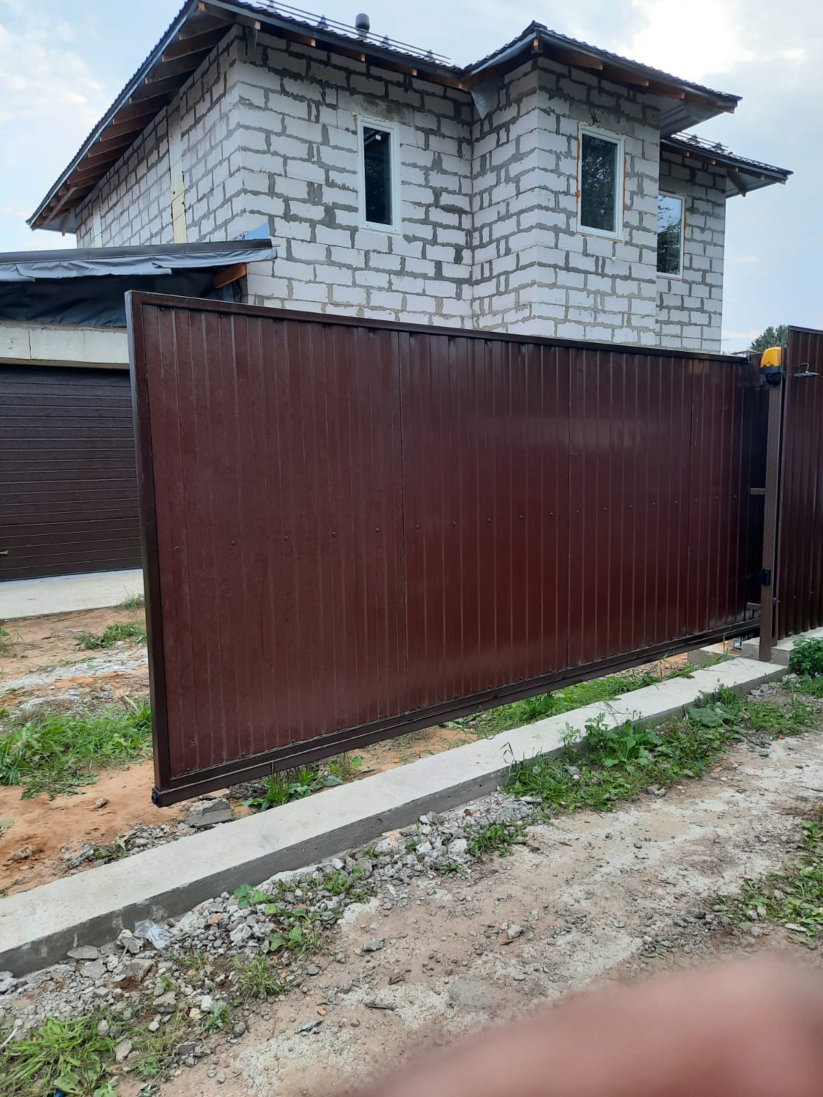 Откатные ворота №17
